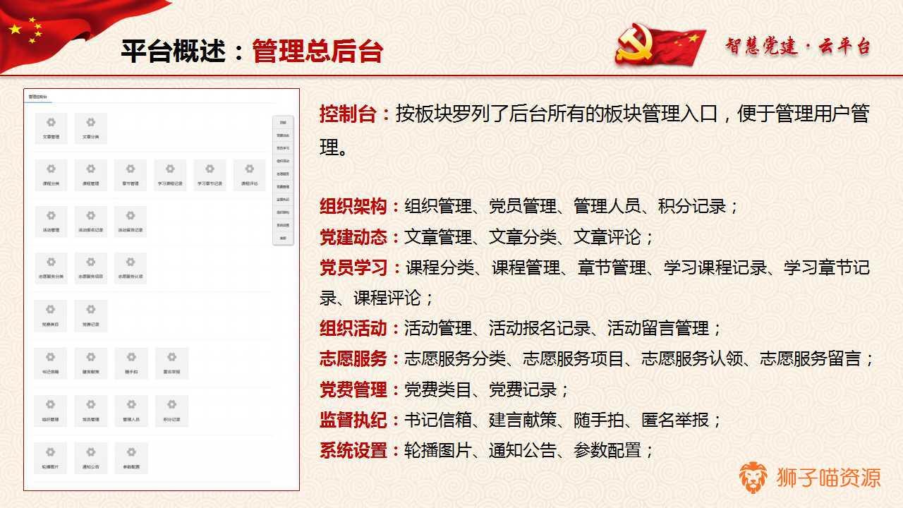 智慧党建云平台2.3.0(vlinke_cparty)微擎模块